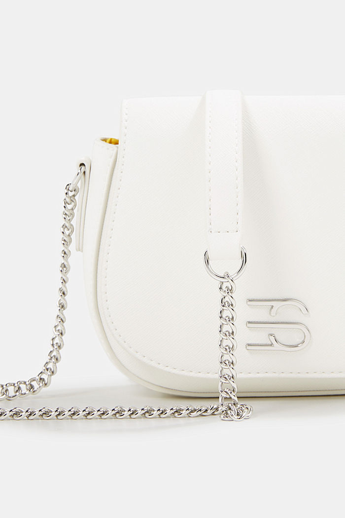 Vegaaninen laukku, jossa olkaketju, WHITE, detail image number 3