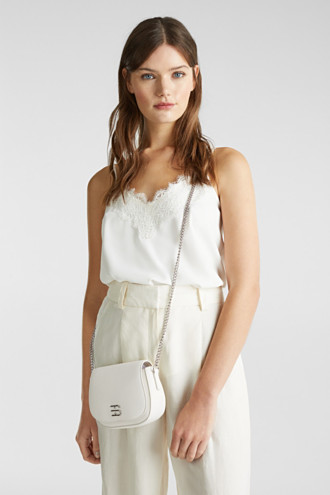 Vegan bag with shoulder chain