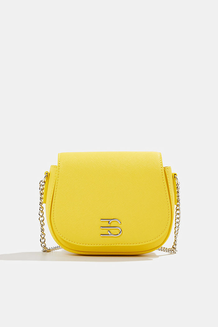 Vegan bag with shoulder chain, YELLOW, detail image number 0