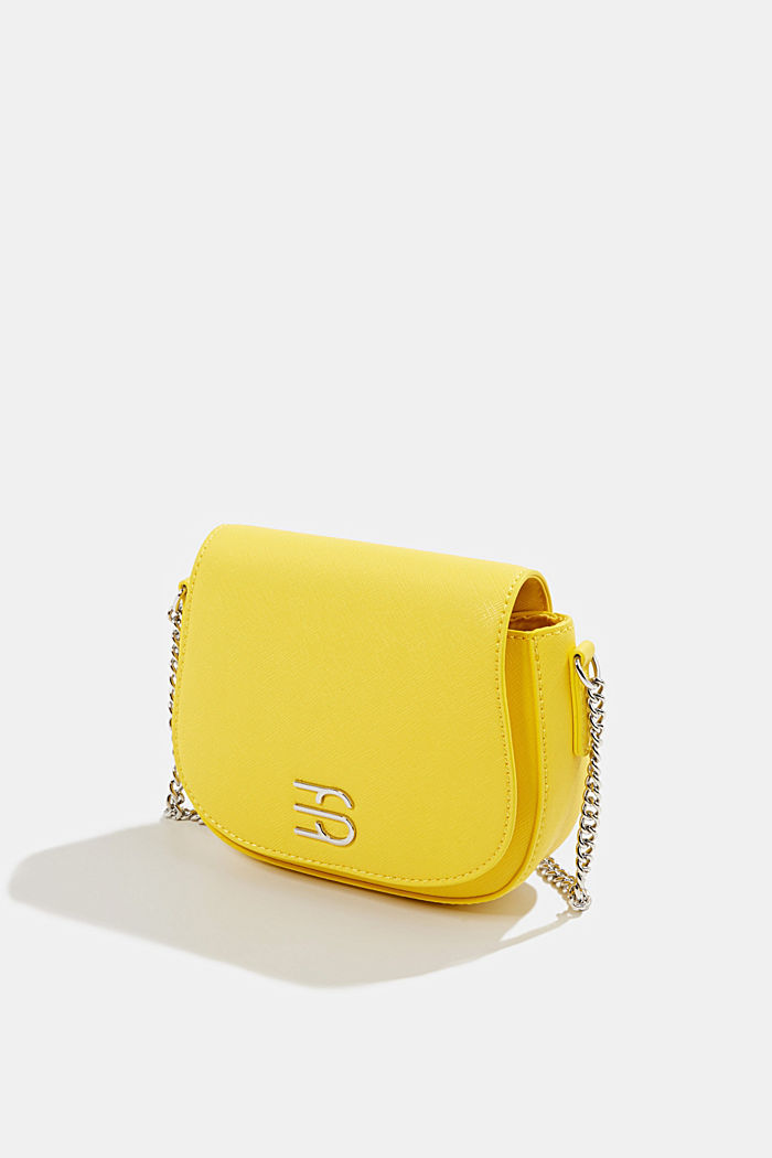 Vegan bag with shoulder chain, YELLOW, detail image number 2