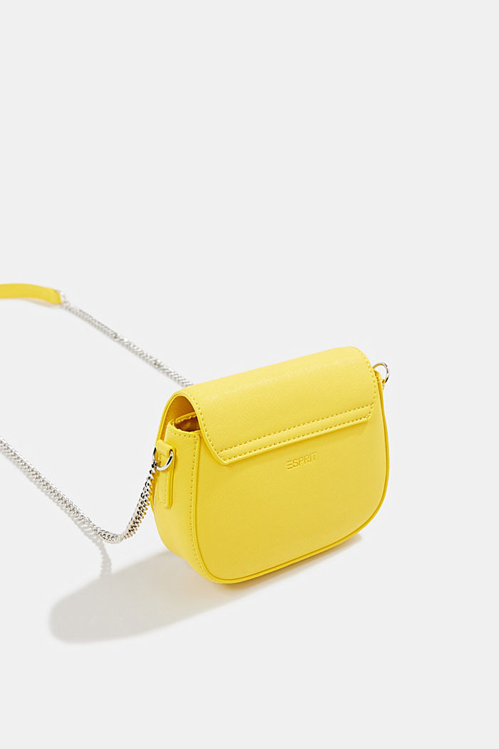 Vegan bag with shoulder chain, YELLOW, detail image number 5