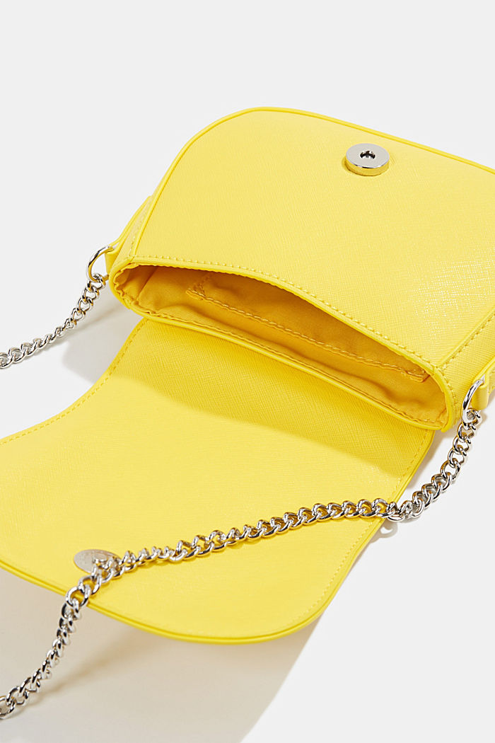 Vegan bag with shoulder chain, YELLOW, detail image number 4