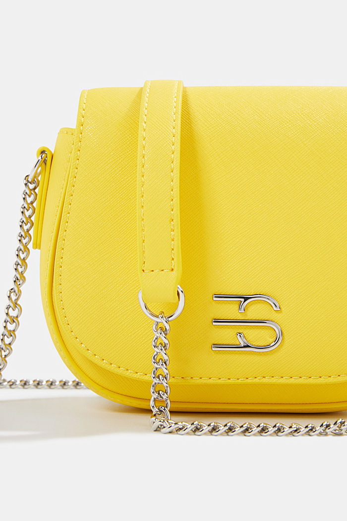 Vegan bag with shoulder chain, YELLOW, detail image number 3