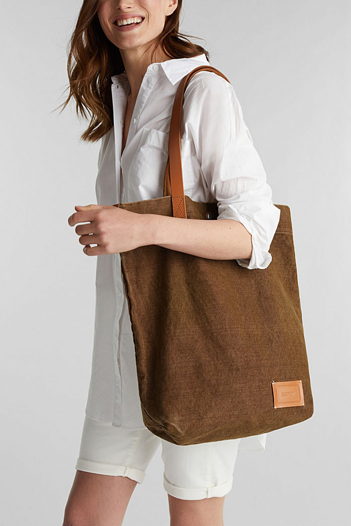 EarthColors® Tote-Bag aus Canvas, SKIN BEIGE, detail image number 1