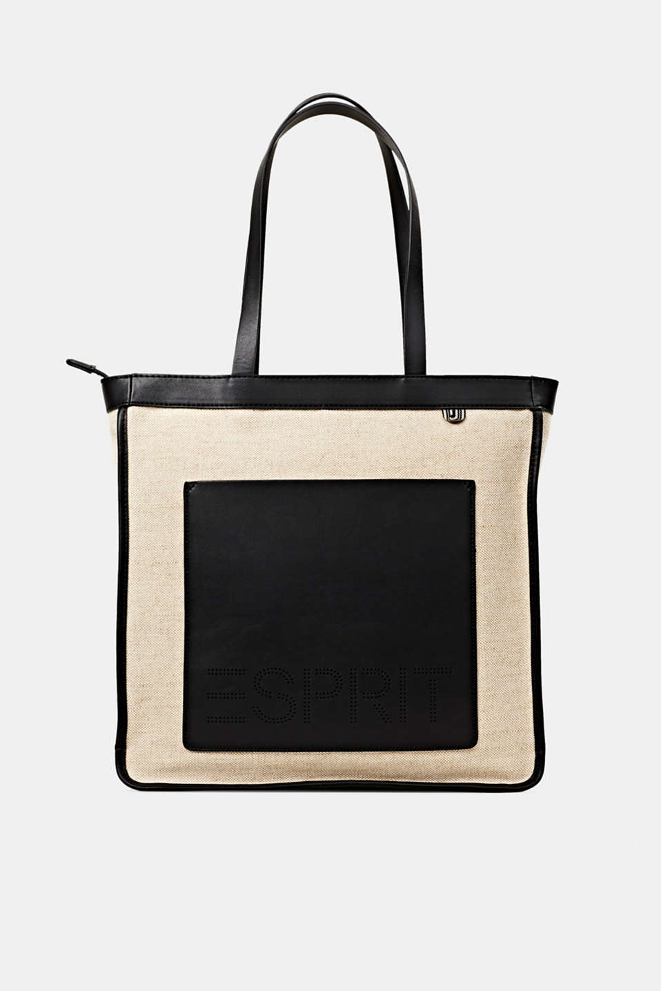 Linen blend: logo shopper, BLACK, detail image number 0