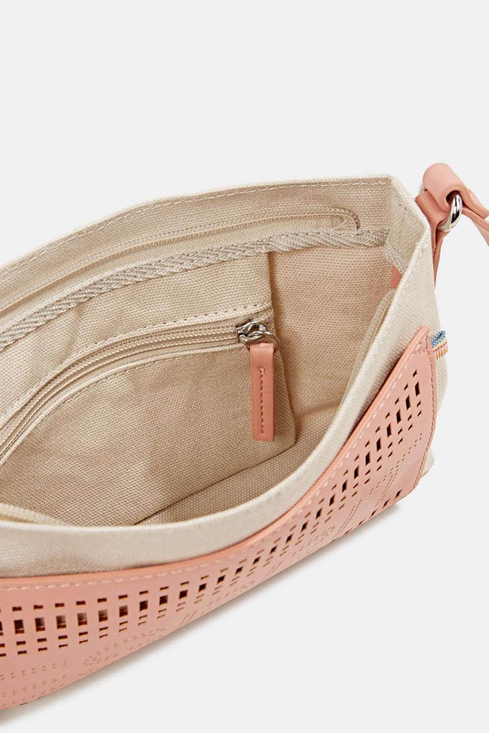 Perforated canvas shoulder bag, BLUSH, detail image number 4