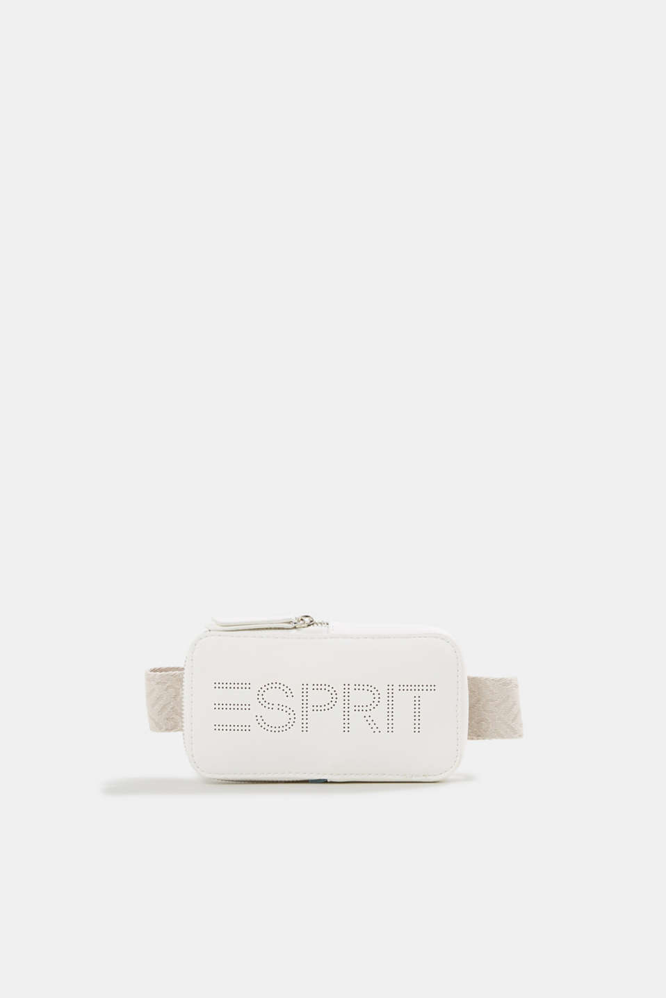 Faux leather belt bag, vegan, OFF WHITE, detail image number 0