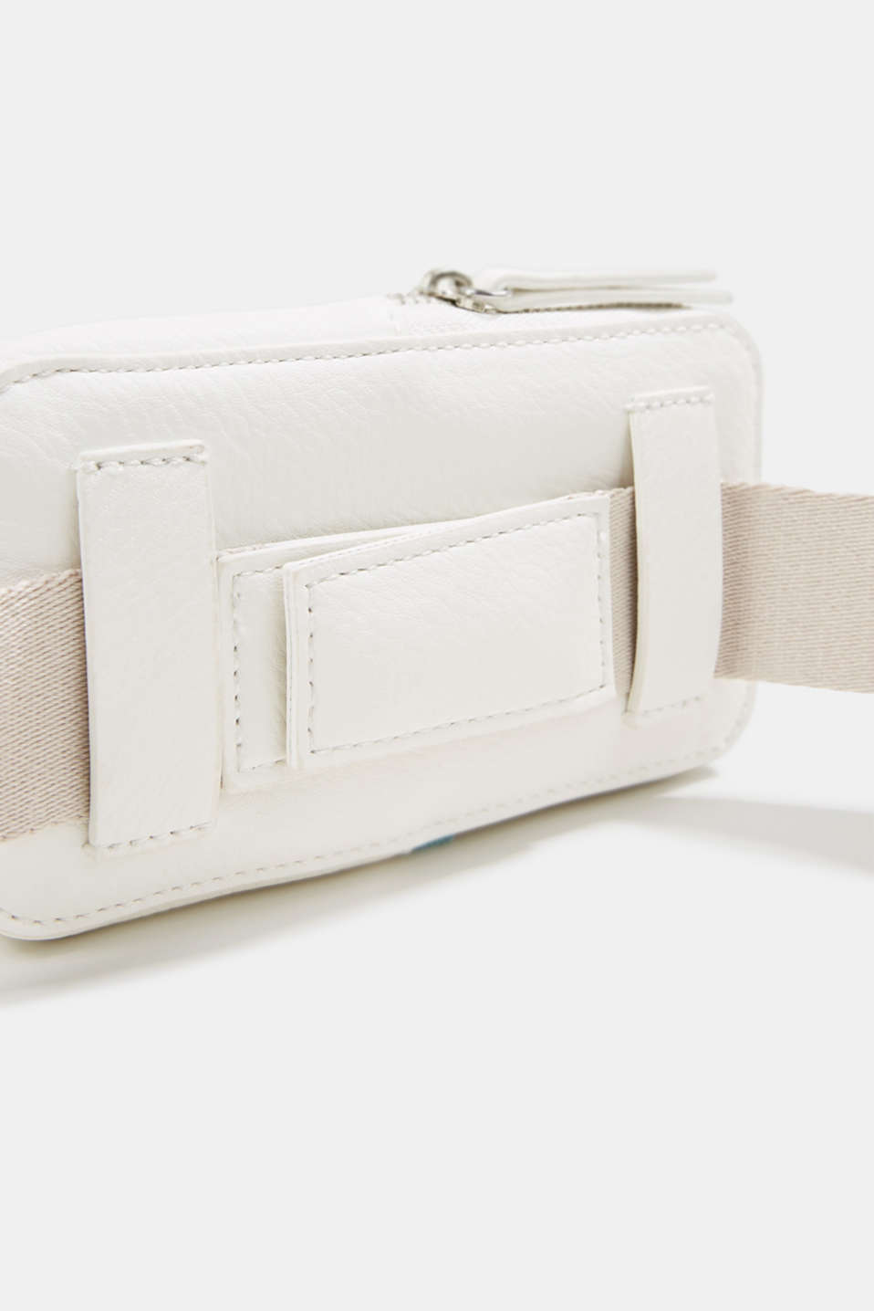 Faux leather belt bag, vegan, OFF WHITE, detail image number 4