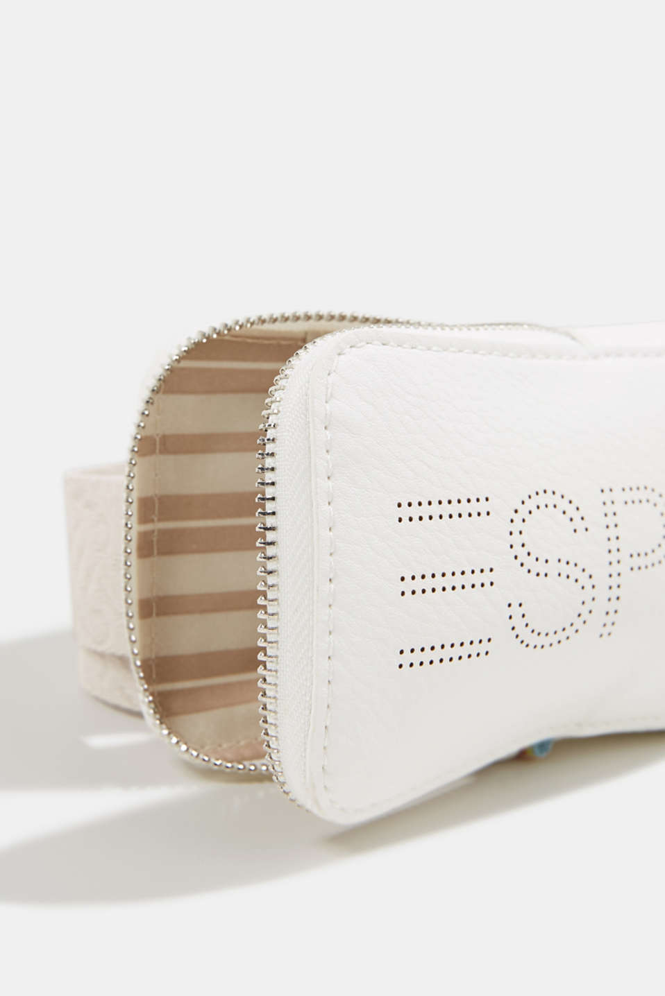Faux leather belt bag, vegan, OFF WHITE, detail image number 3