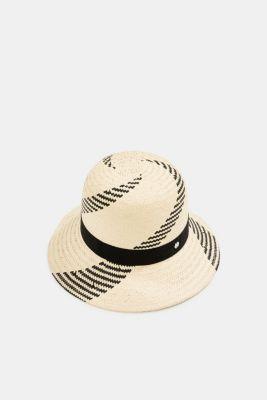 Hand-made straw sun hat, SAND, detail