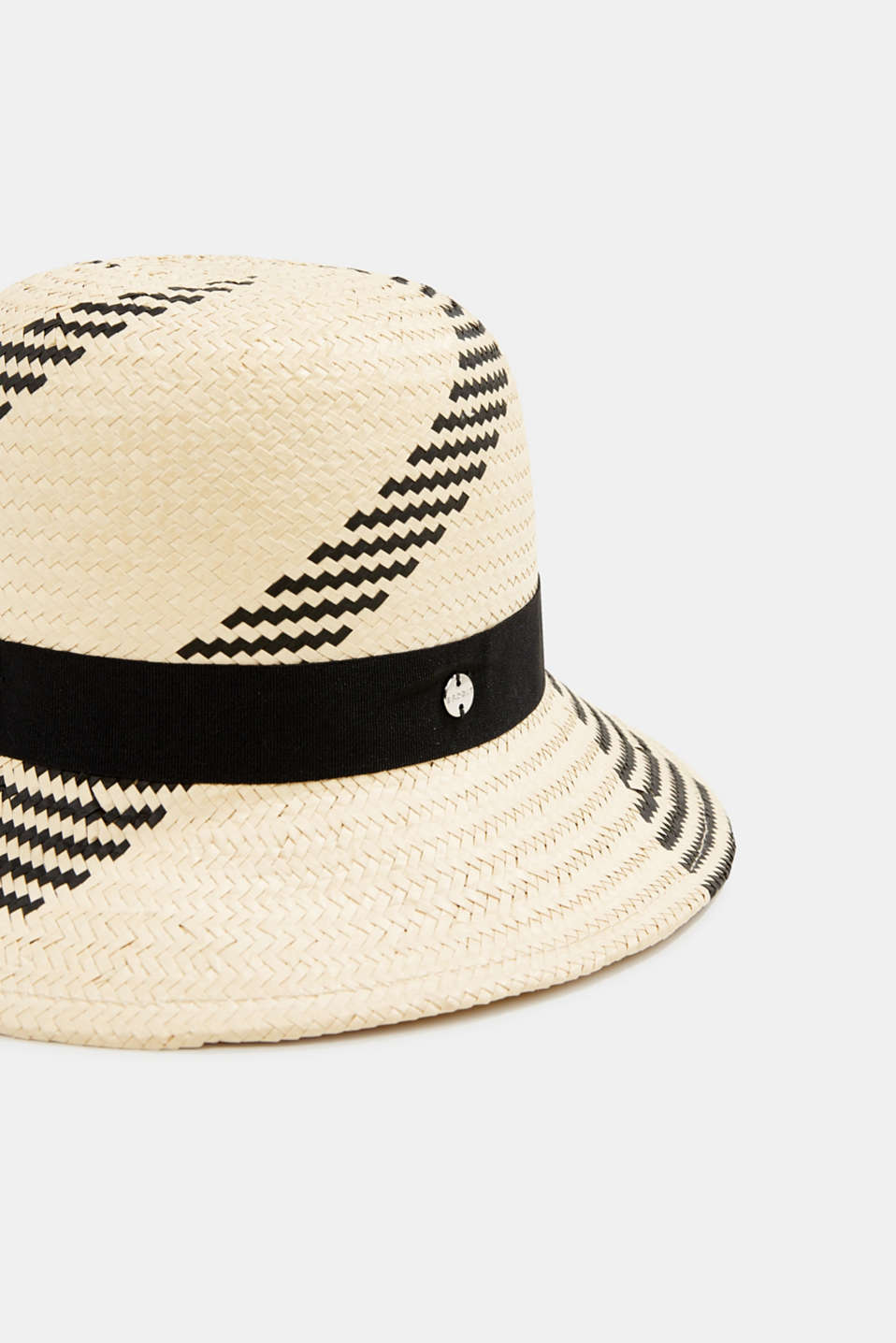Hand-made straw sun hat, SAND, detail image number 1