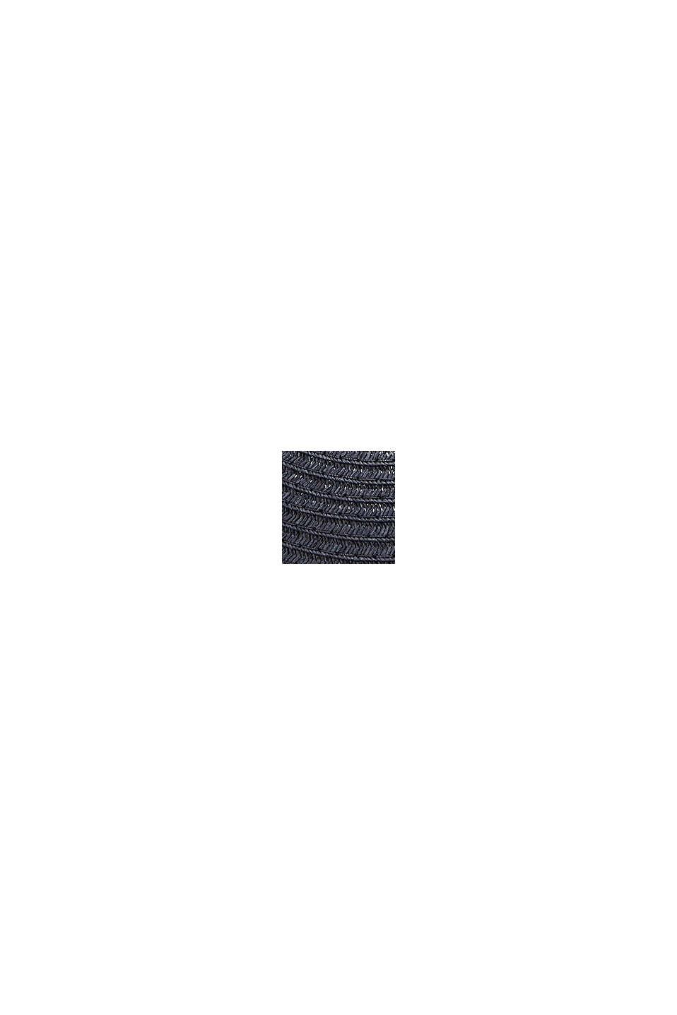 Casquette à visière en paille, réalisée à la main, BLUE, swatch