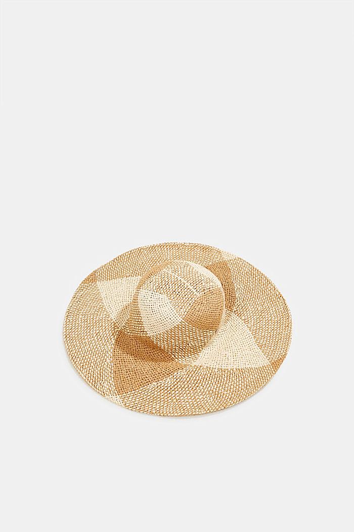 Sombrero de paja confeccionado a mano, BEIGE, detail image number 0
