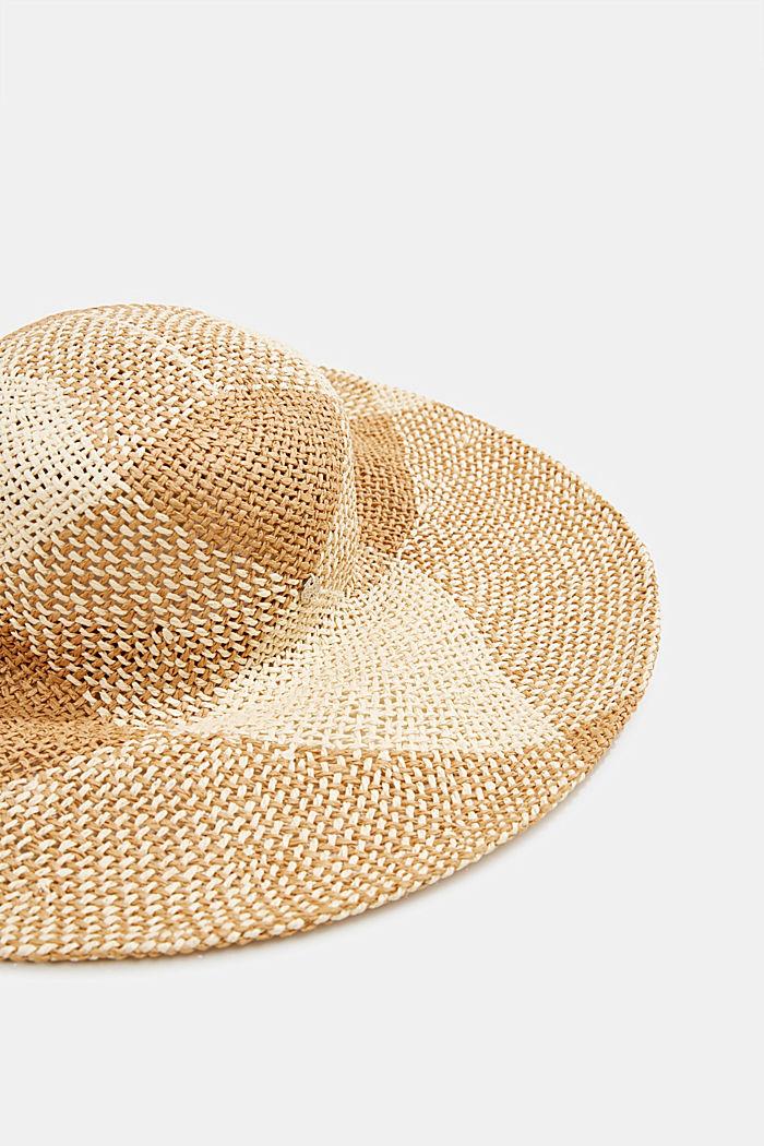 Sombrero de paja confeccionado a mano, BEIGE, detail image number 1