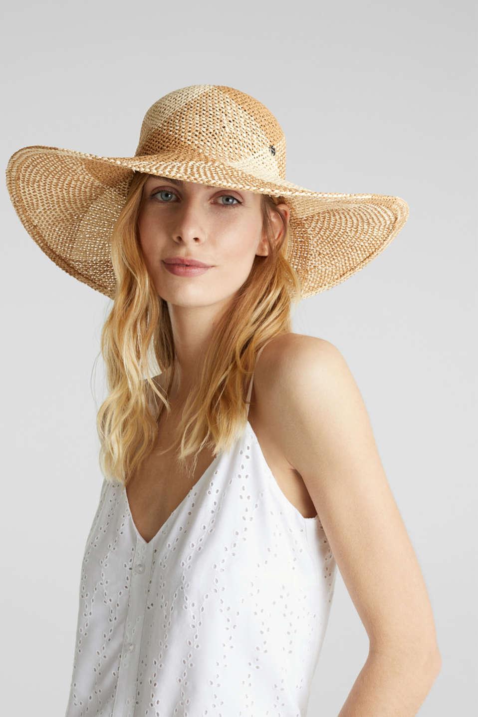 Hand-made straw hat, BEIGE, detail image number 2