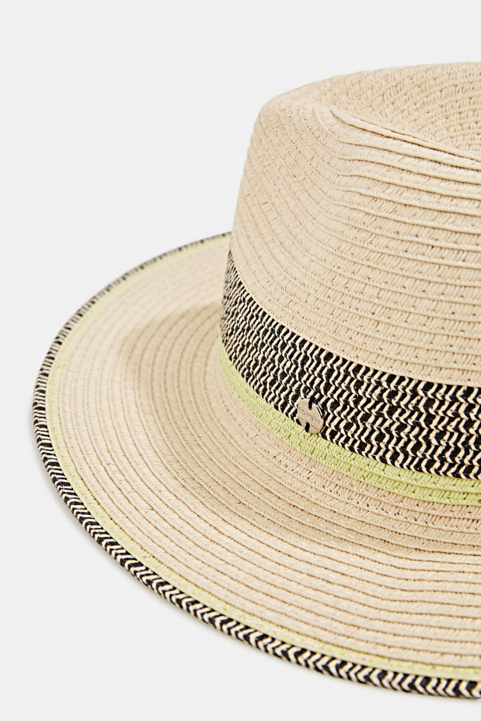 Panama hat made of bast, CREAM BEIGE, detail image number 1