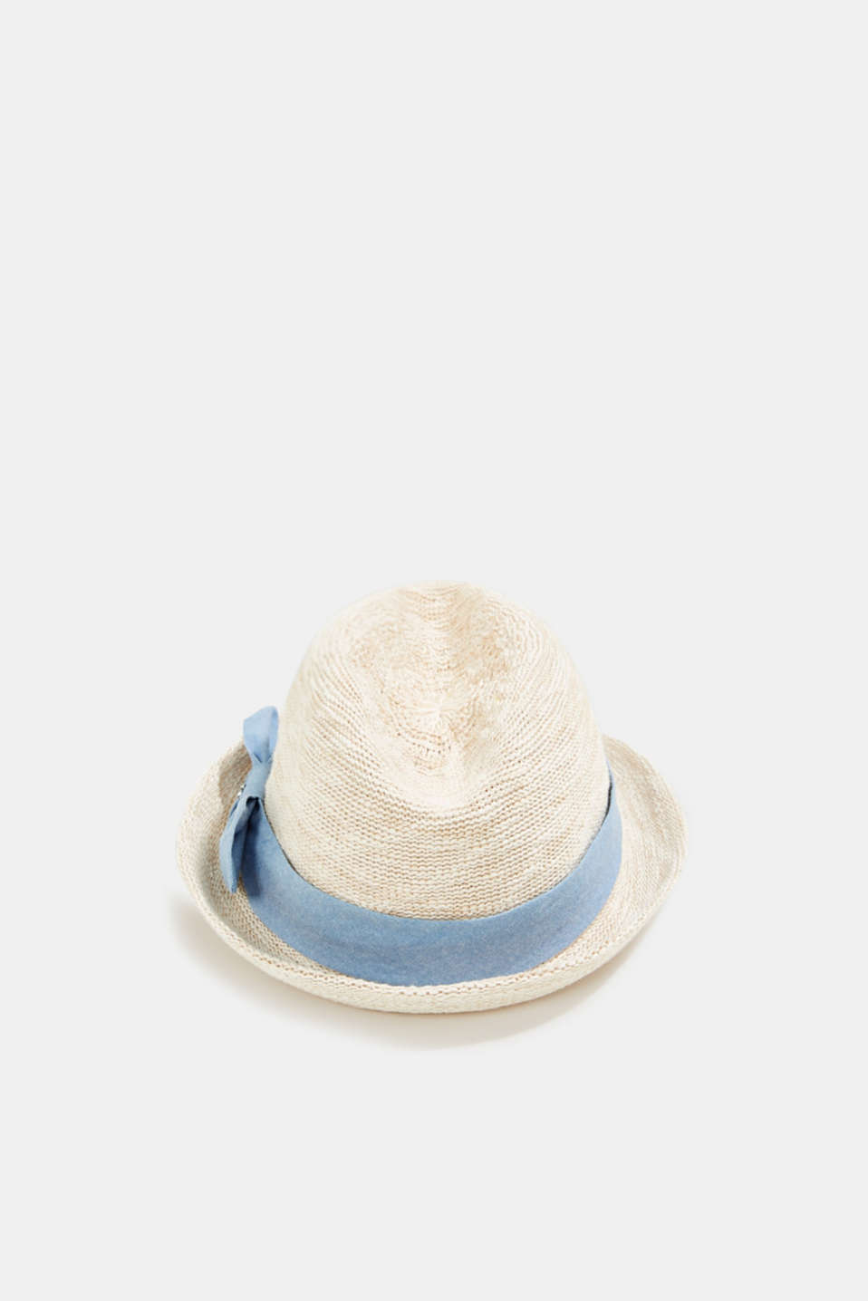 Esprit - Knitted trilby hat with tape