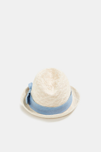 Knitted trilby hat with tape