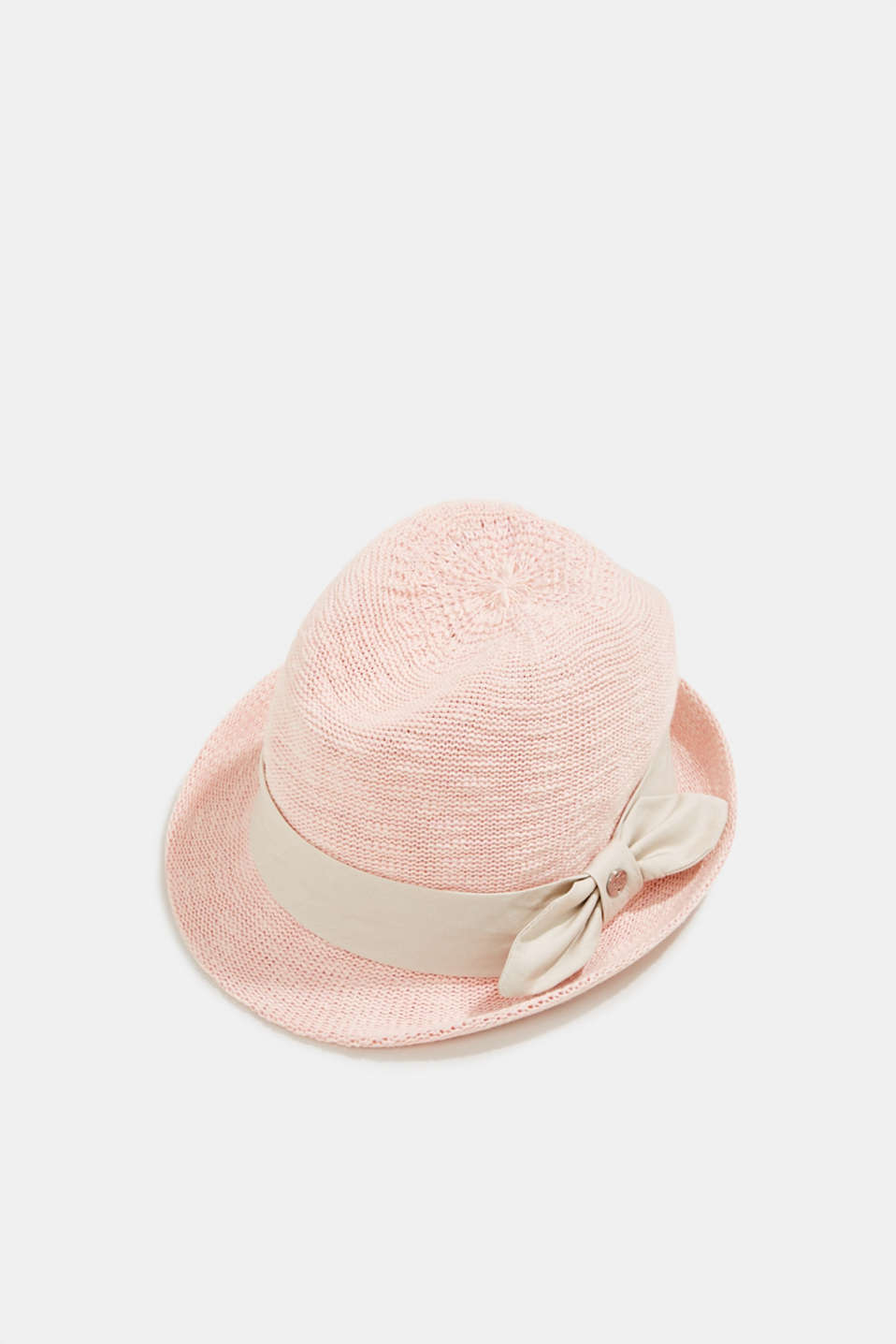 Esprit - Crocheted trilby hat with a hat band