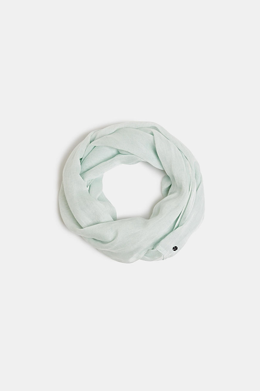 Linen blend: snood with fine texture