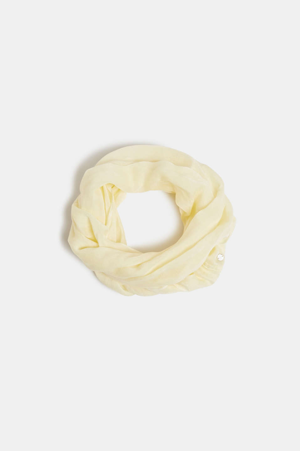 Esprit - Linen blend: snood with fine texture