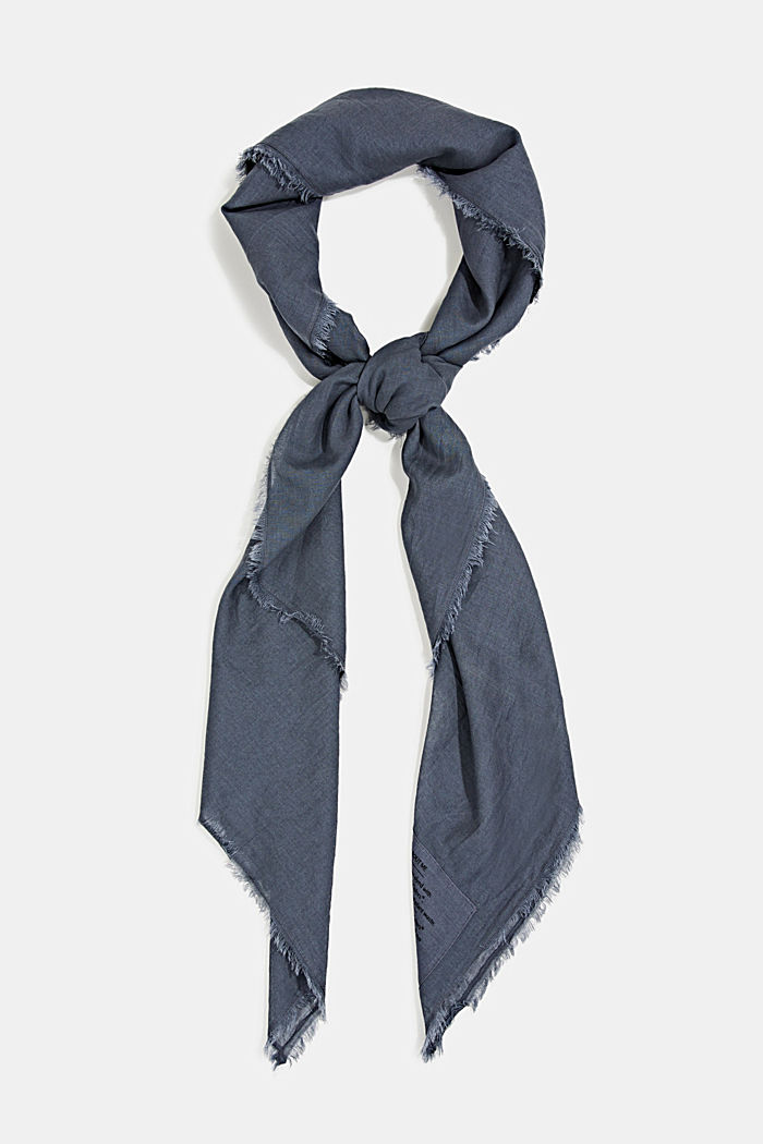 EarthColors ® organic cotton sjaal, LIGHT BLUE LAVENDEL, detail image number 0
