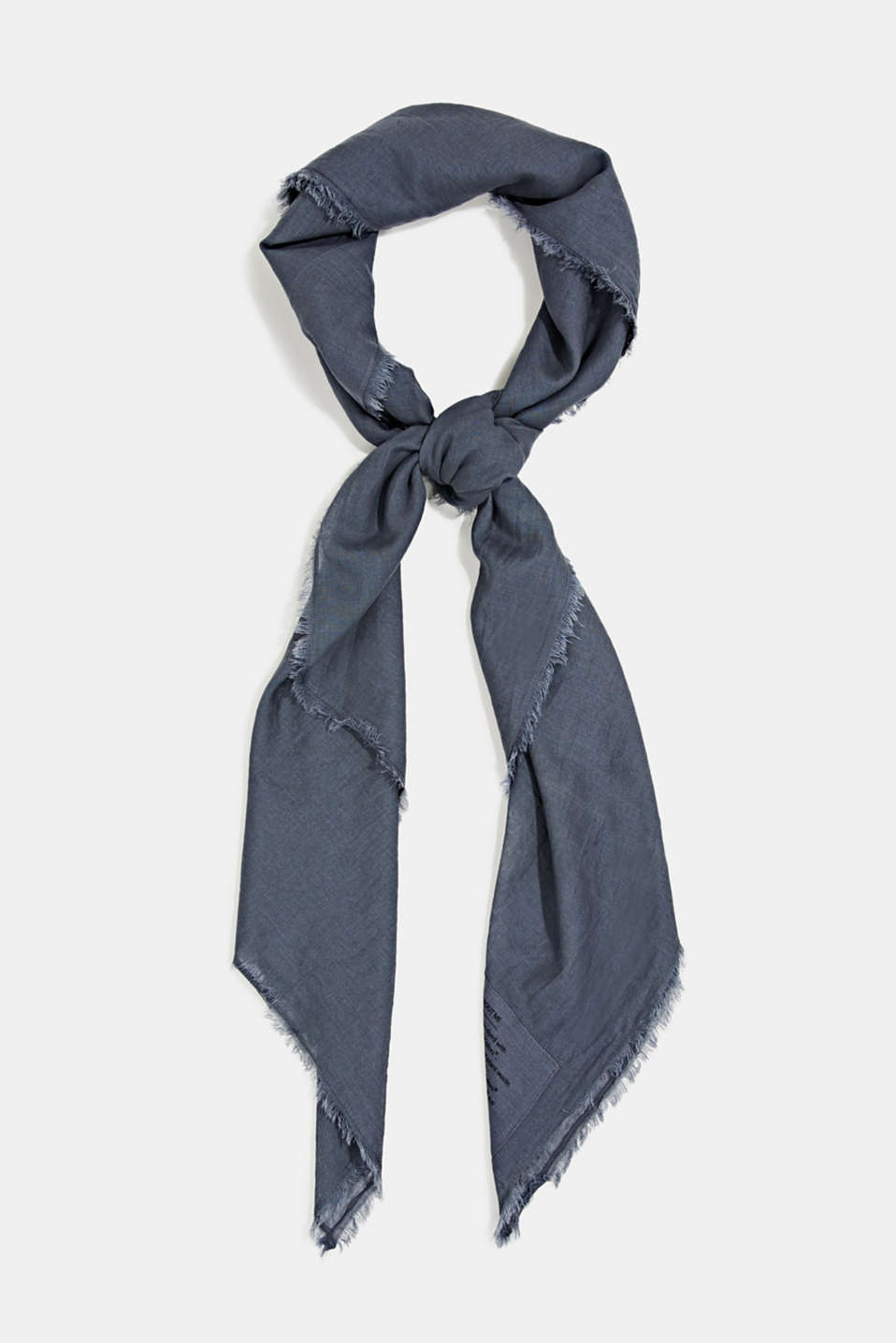 EarthColors® organic cotton scarf, LIGHT BLUE LAVENDER, detail image number 0