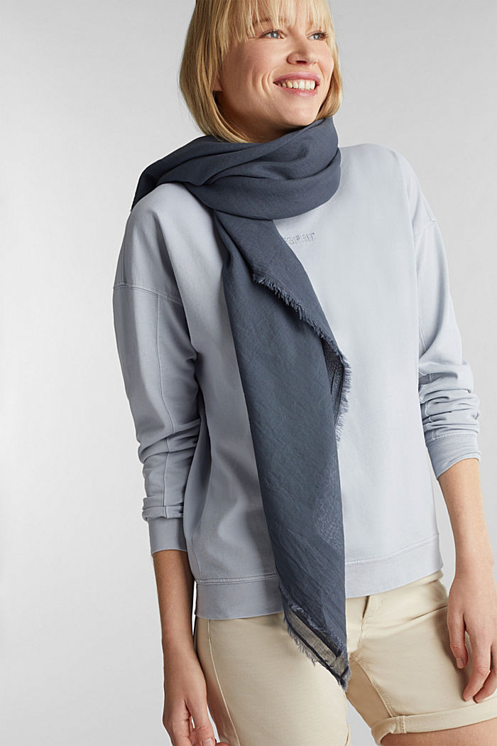 EarthColors ® organic cotton sjaal, LIGHT BLUE LAVENDEL, detail image number 1