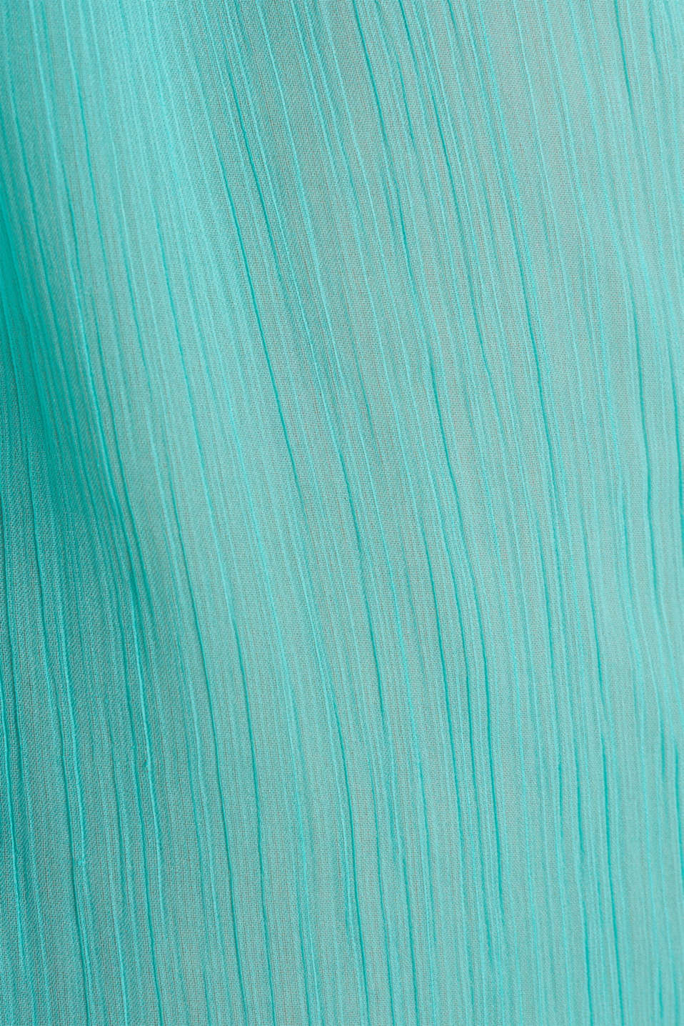 Woven poncho in a crinkled look, TURQUOISE, detail image number 2