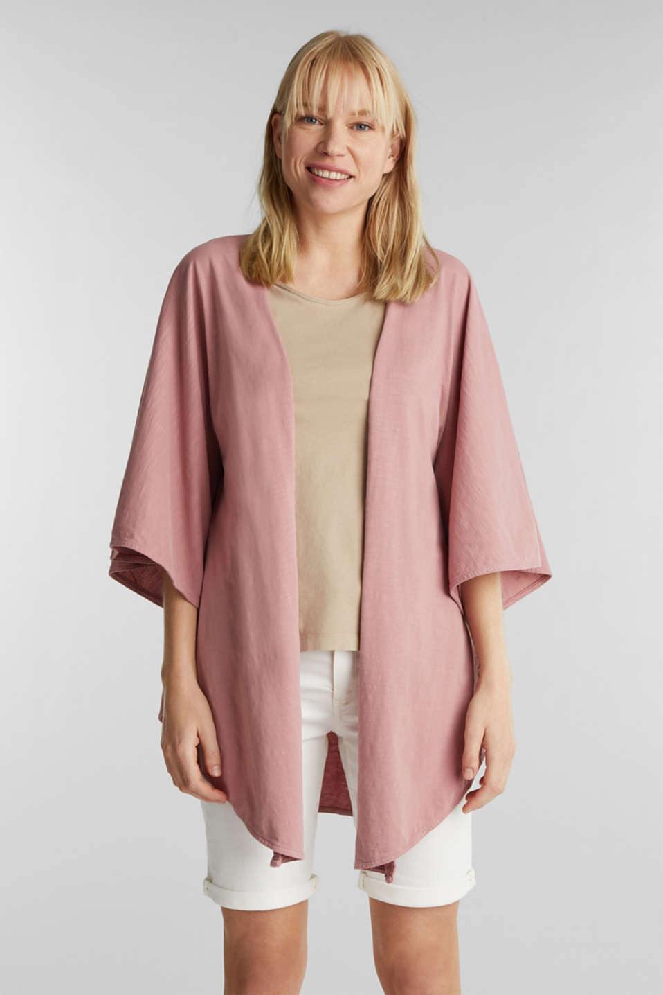 Esprit - EarthColors®: poncho made of organic cotton