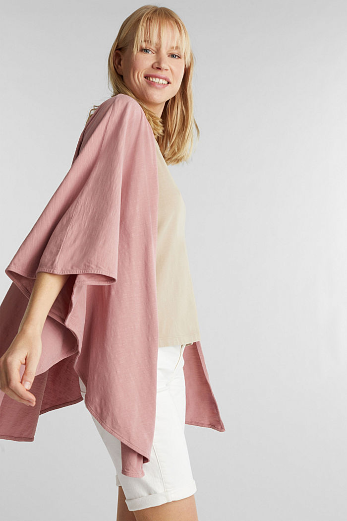EarthColors®: poncho made of organic cotton, MAUVE, detail image number 1