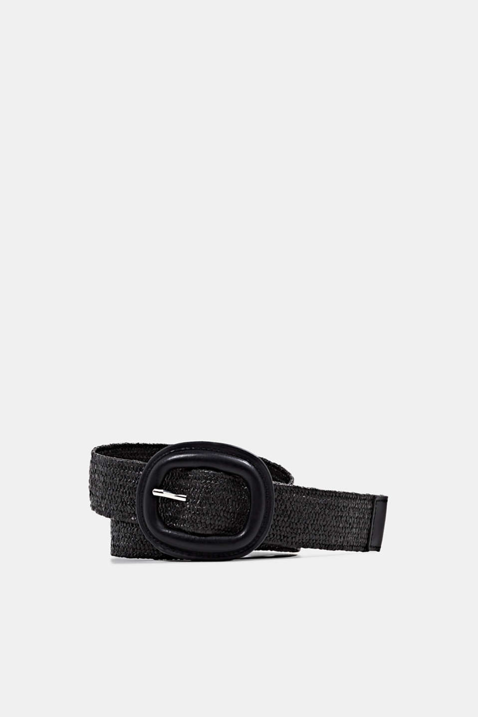 Esprit - Braided belt with a covered buckle
