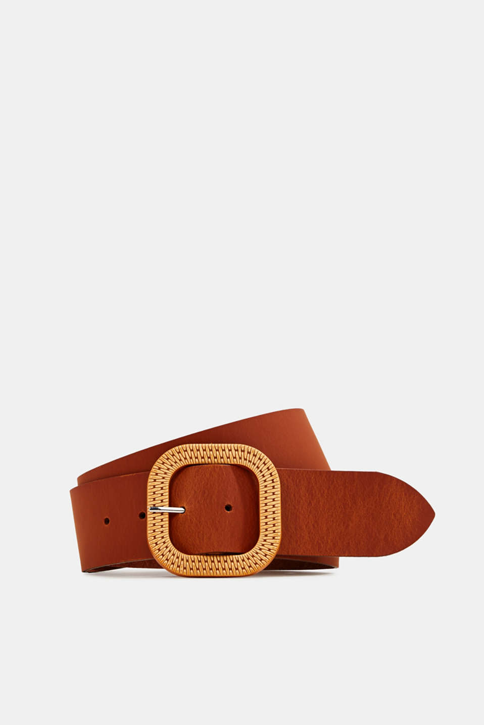 Esprit - Made of leather: belt with a buckle in a braided look