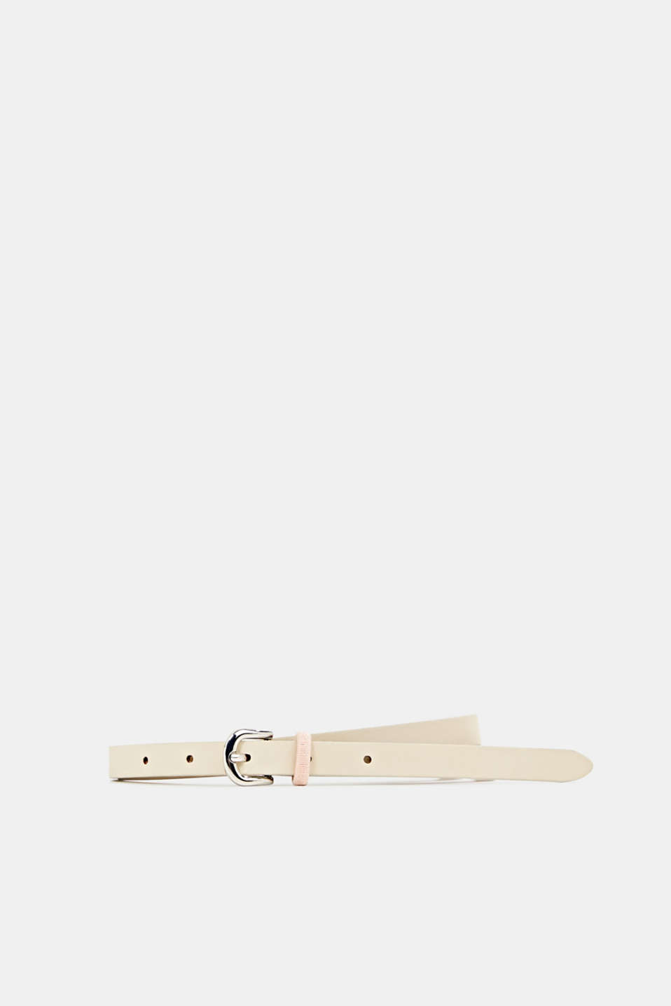 Esprit - Made of leather: Belt with a contrasting loop
