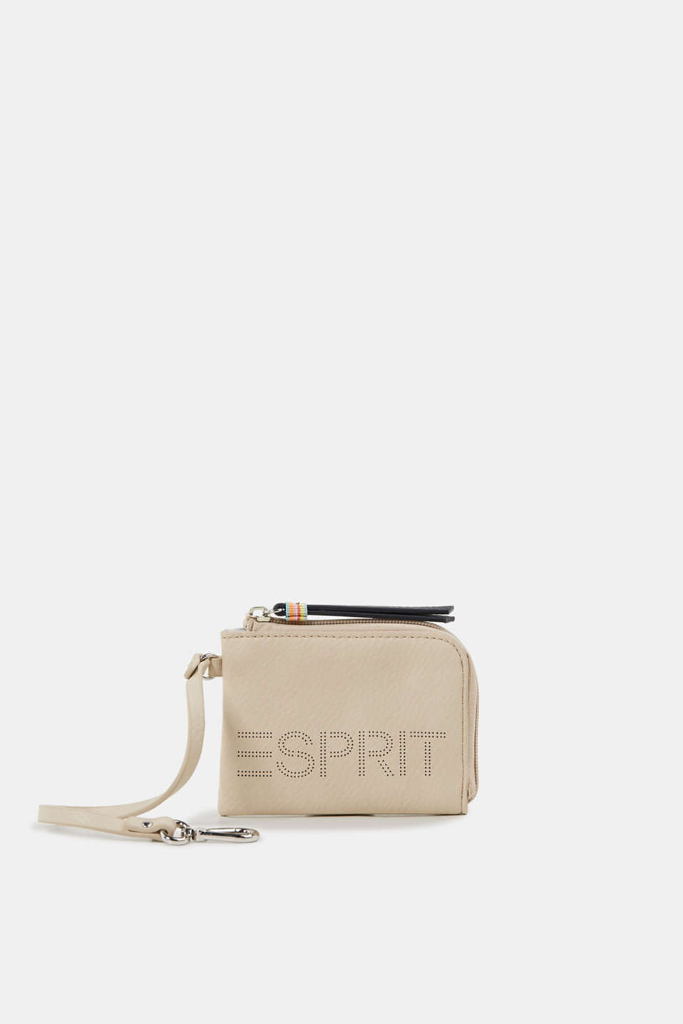Faux leather wallet, vegan, BEIGE, detail image number 0