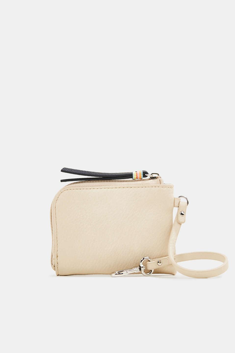 Faux leather wallet, vegan, BEIGE, detail image number 2