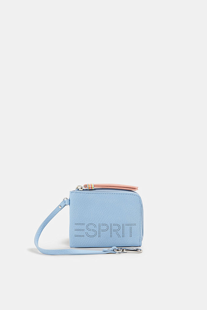 Faux leather wallet, vegan, LIGHT BLUE, detail image number 0
