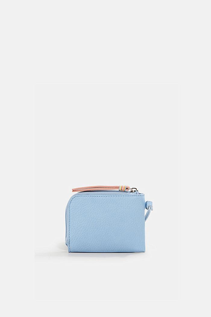 Faux leather wallet, vegan, LIGHT BLUE, detail image number 2