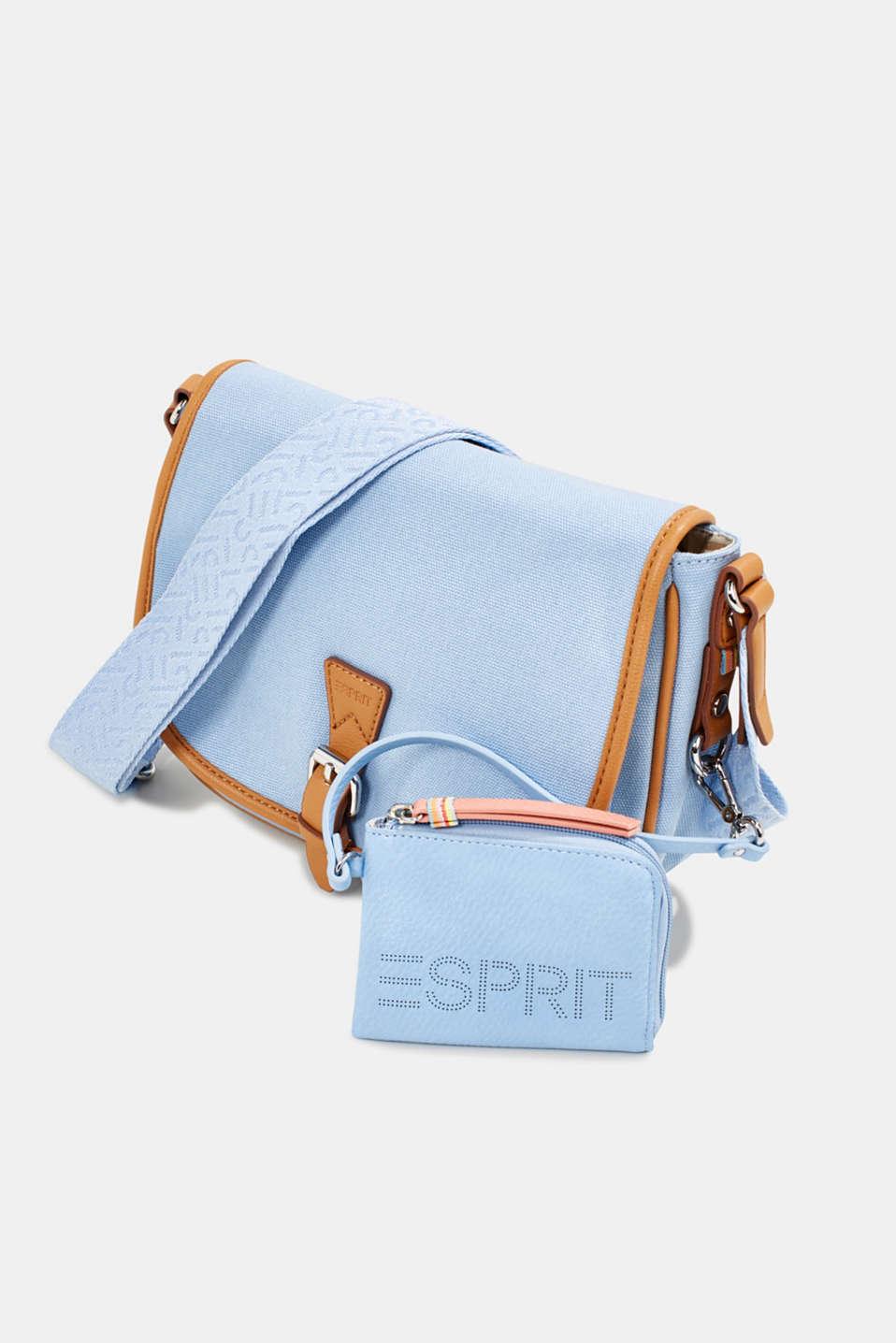 Faux leather wallet, vegan, LIGHT BLUE, detail image number 3