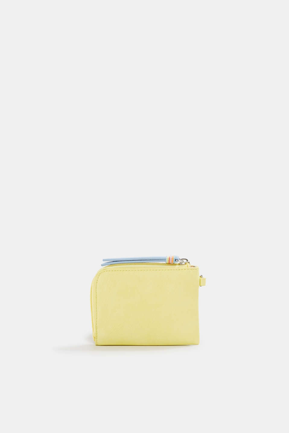 Faux leather wallet, vegan, LIGHT YELLOW, detail image number 2