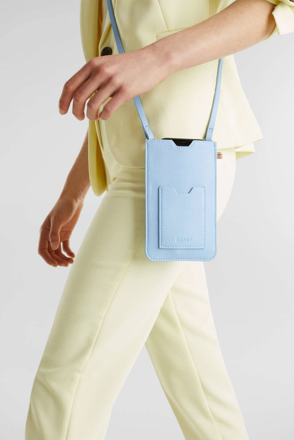 Susie T. range: Smartphone bag, vegan, LIGHT BLUE, detail image number 3
