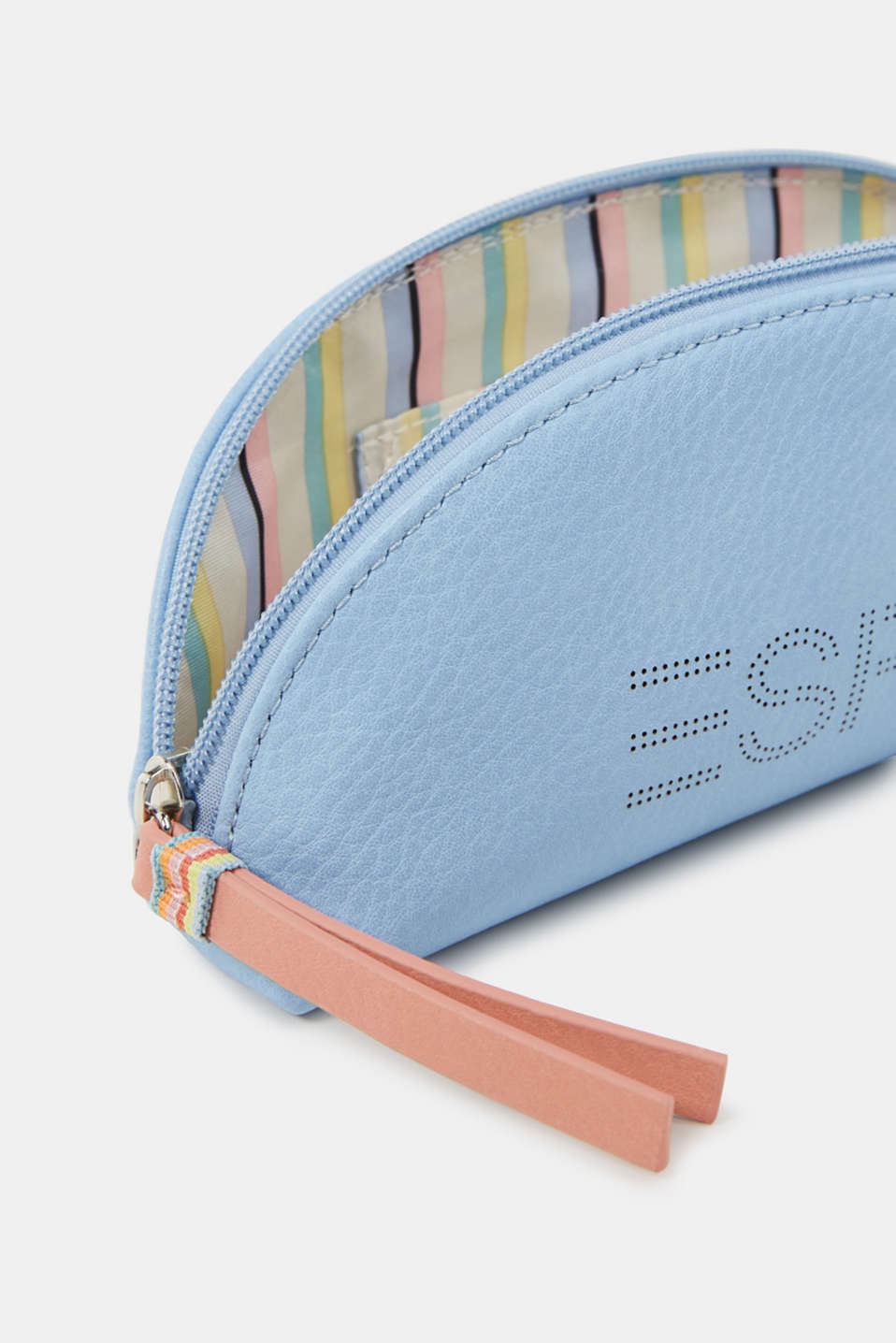 Faux leather vanity bag, vegan, LIGHT BLUE, detail image number 1