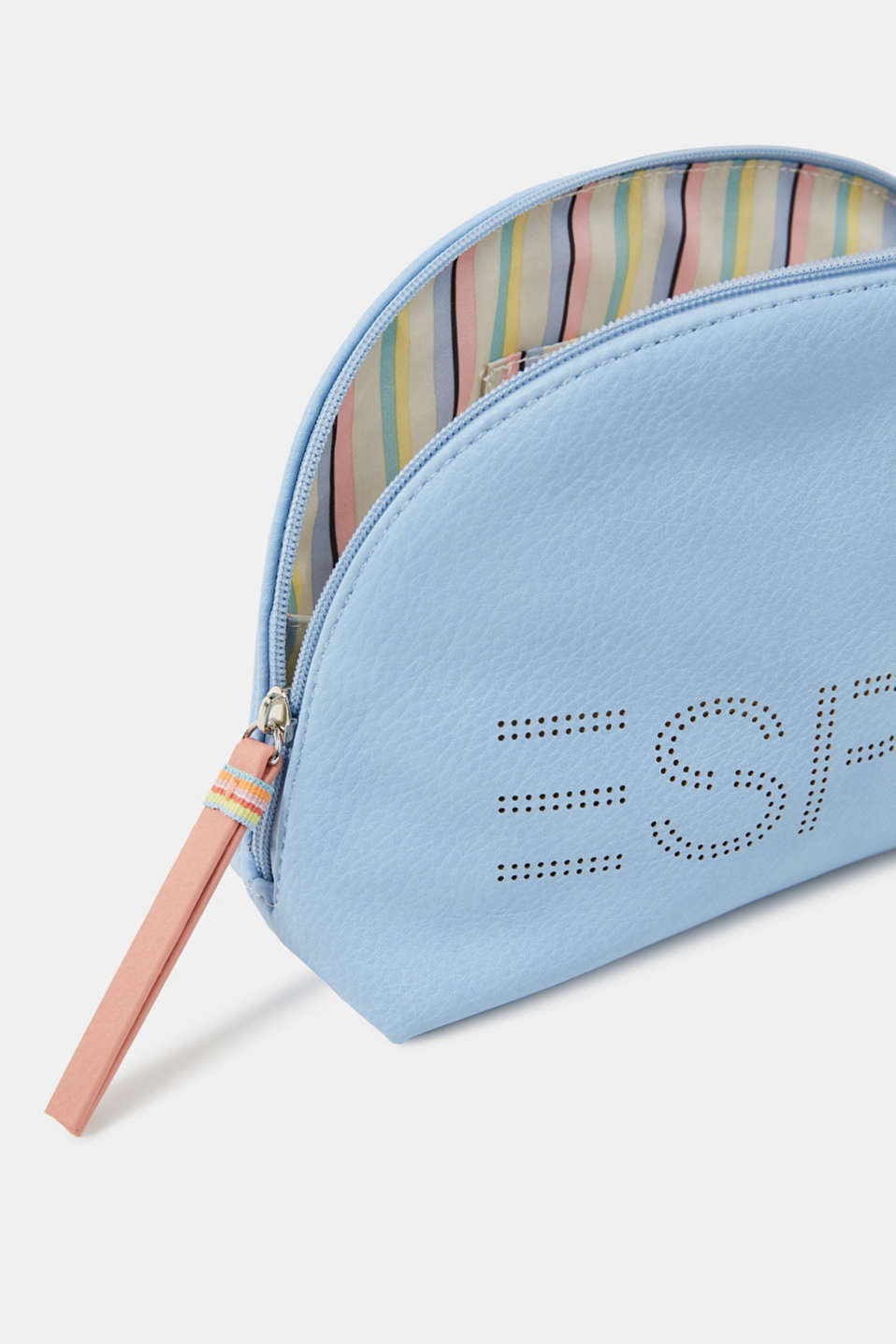 Susie T cosmetics bag., LIGHT BLUE, detail image number 2