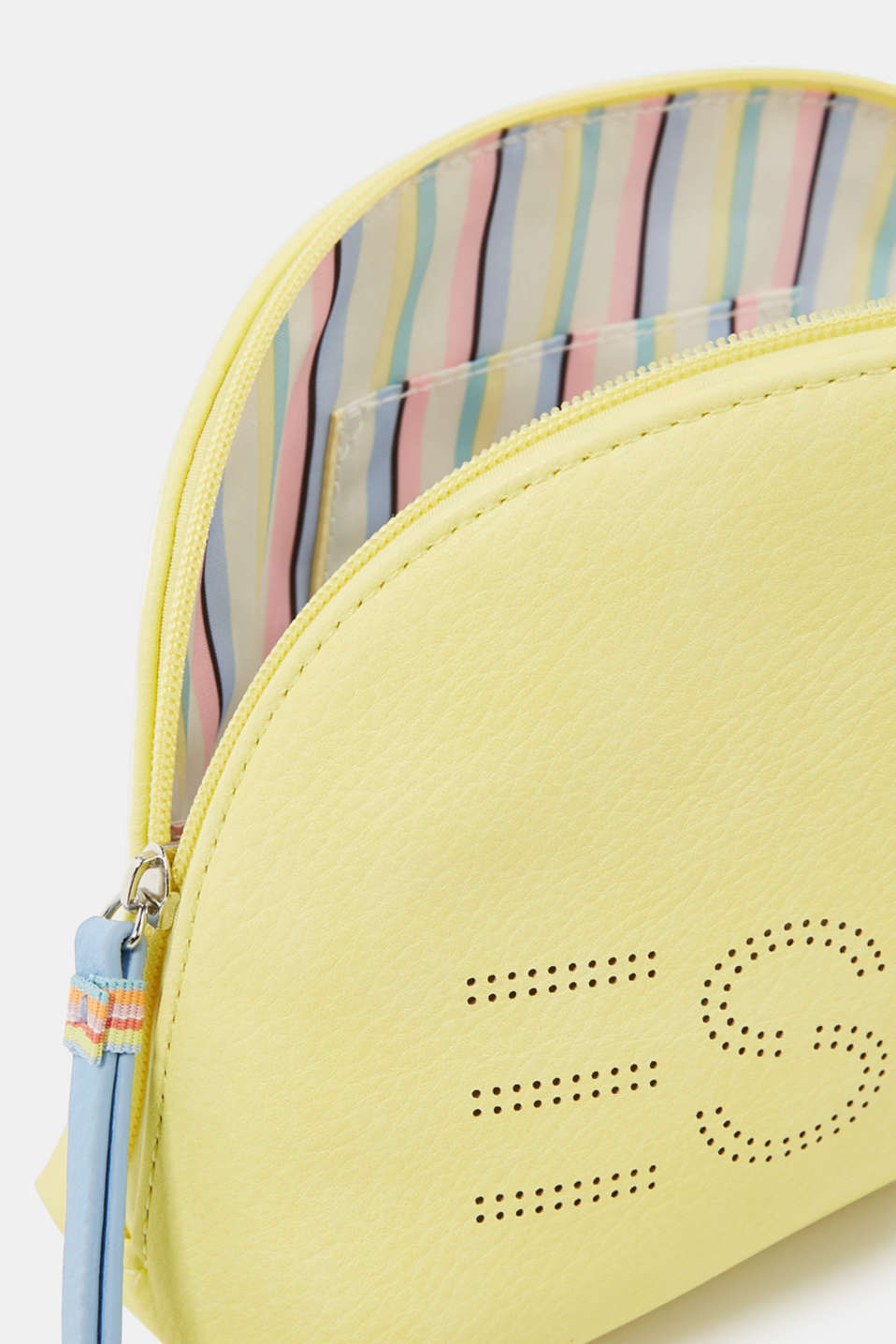 Susie T cosmetics bag., LIGHT YELLOW, detail image number 1