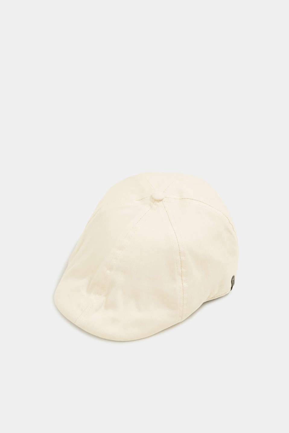 Flat cap made of 100% cotton, LIGHT BEIGE, detail image number 0