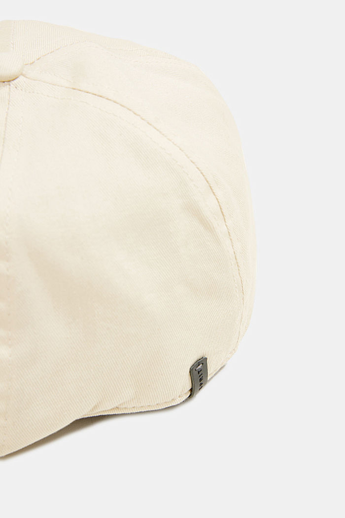 Flat cap made of 100% cotton, LIGHT BEIGE, detail image number 1