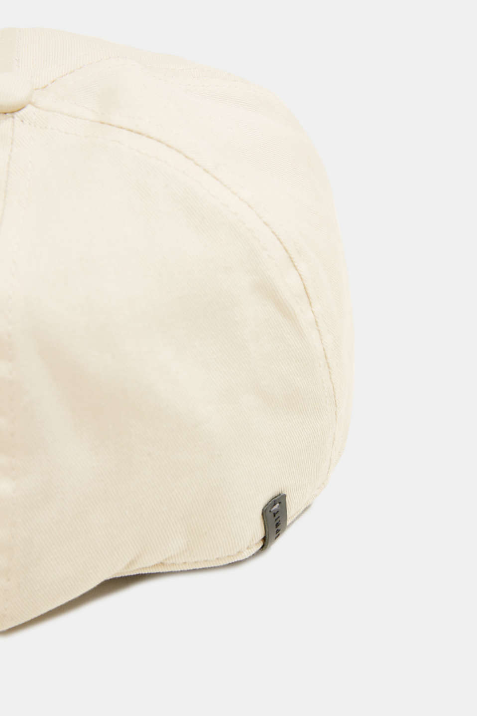 Flat cap made of 100% cotton, LIGHT BEIGE, detail image number 1
