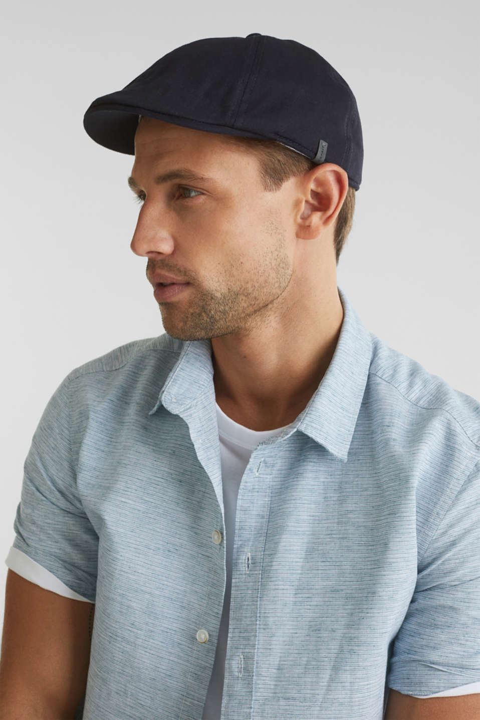 Flat cap made of 100% cotton, NAVY, detail image number 2