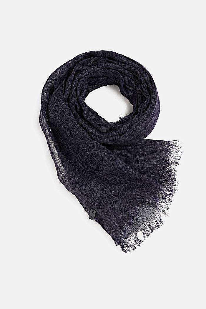 Web-Schal aus 100% Leinen