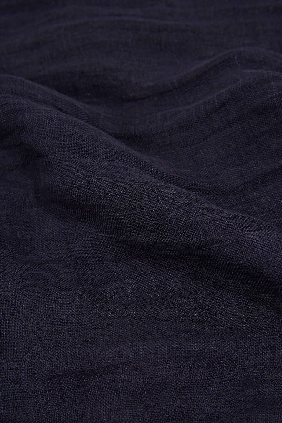 Woven scarf made of 100% linen, NAVY, detail image number 2